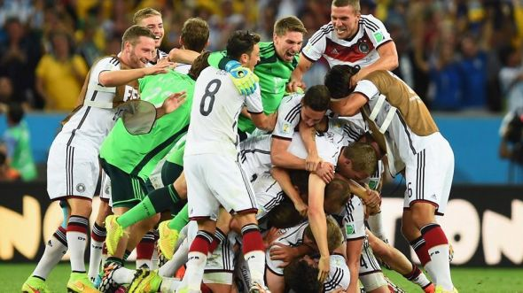Germany celebrates after the final whistle - they've done so well to add to their incredible footballing pedigree