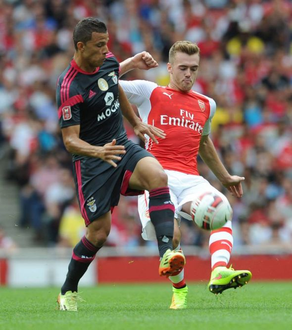 Calum Chambers made his non-competitiv debut for the club; he very much looked the part