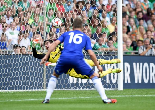 Big Belgian keeper Thibaut Courtois featured for Chelsea against Werder Bremen; though he surrendered three to the Germans, he was left with no chance on two of them as Chelsea were poor at the back