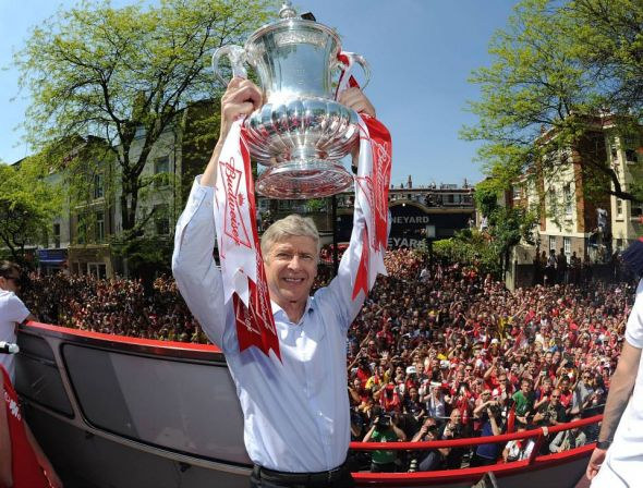 Arsene Wenger could well lift another FA Cup or the Carling Cup, but the Premier League trophy will elude him for yet another season