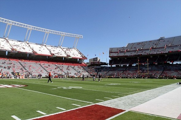 Oct 1, 2011; Columbia, SC, USA; A general view prior to the game between the Auburn Tigers and the South Carolina Gamecocks at Williams-Brice Stadium. Mandatory Credit: Joshua S. Kelly-USA TODAY Sports