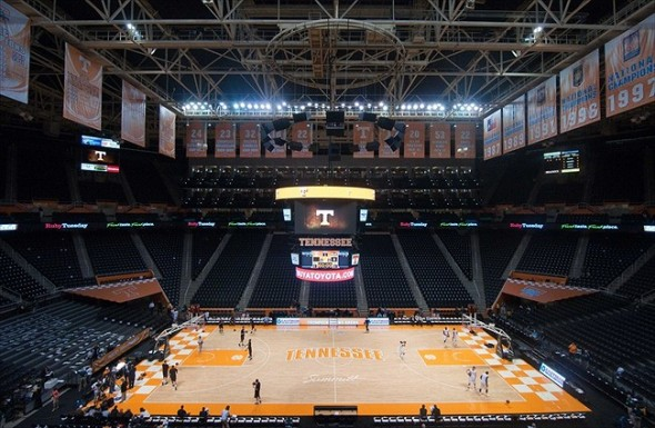 Nov 16, 2011; Knoxville, TN, USA; General view of Thompson Boling Arena before the game between the Tennessee Volunteers and the Louisiana Monroe Warhawks. Mandatory Credit: Randy Sartin-USA TODAY Sports
