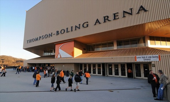 Jan 28, 2012; Knoxville, TN, USA; General view of the outside Thompson Boling Arena before the game between the Auburn Tigers and the Tennessee Volunteers. Mandatory Credit: Randy Sartin-USA TODAY Sports