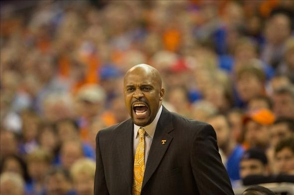 Tennessee Volunteers head coach Cuonzo Martin during the game against the Florida Gators.