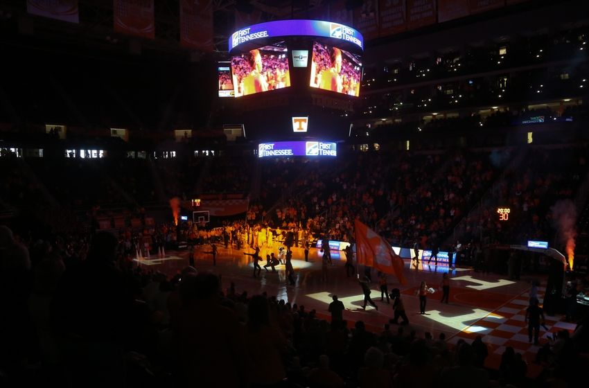 Jan 23, 2016; Knoxville, TN, USA; General view before the game between the Tennessee Volunteers and South Carolina Gamecocks at Thompson-Boling Arena. Mandatory Credit: Randy Sartin-USA TODAY Sports