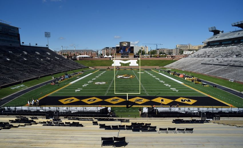 Sep 17, 2016; Columbia, MO, USA; An overall view of Faurot Field before the game between the Missouri Tigers and the Georgia Bulldogs. Mandatory Credit: John Rieger-USA TODAY Sports
