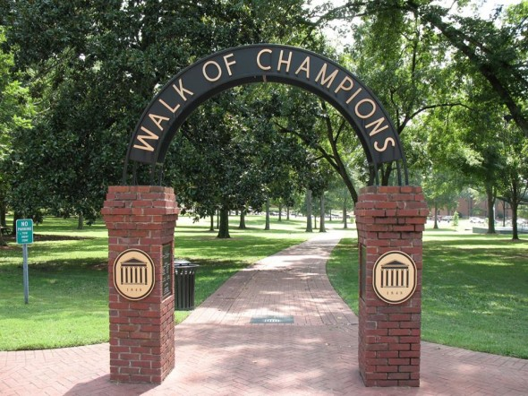 Walk of Champions in The Grove at Ole Miss. PHOTO: Evelyn VanPelt