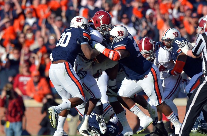 Tj Yeldon Dee Ford Ben Bradley Ncaa Football Alabama Auburn X