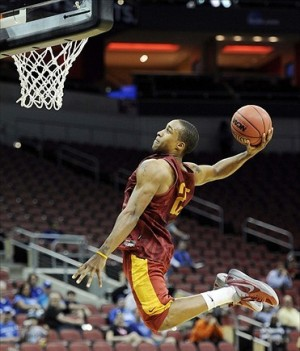 Cyclones guard Tyrus McGee dunks during practice but put on a perimeter shooting show Wednesday night. (Photo Credit: Jamie Rhodes-USA TODAY Sports)
