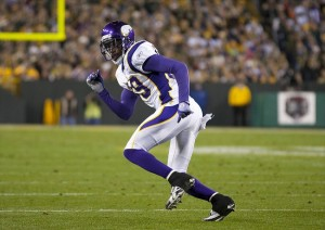 Nov 14, 2011; Green Bay, WI, USA; Minnesota Vikings safety Husain Abdullah (39) during the game against the Green Bay Packers at Lambeau Field.  The Packers defeated the Vikings 45-7.  Mandatory Credit: Jeff Hanisch-USA TODAY Sports