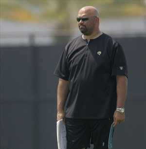 May 6, 2012; Jacksonville FL, USA; Jacksonville Jaguars assistant offensive line coach Ron Prince during rookie mini camp at Florida Blue Health