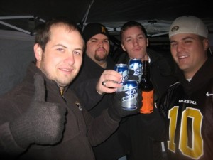 Bottoms Up at a Mizzou Tailgate
