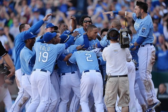 Kansas City Royals Win with walk-off slam