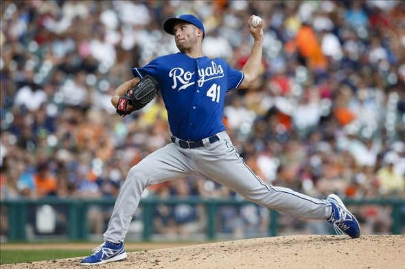 Danny Duffy pitches fifth against Tigers