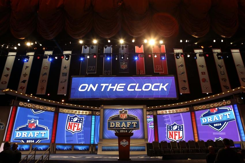 May 8, 2014; New York, NY, USA; A general view of the stage and podium before the start of the 2014 NFL Draft at Radio City Music Hall. Mandatory Credit: Adam Hunger-USA TODAY Sports