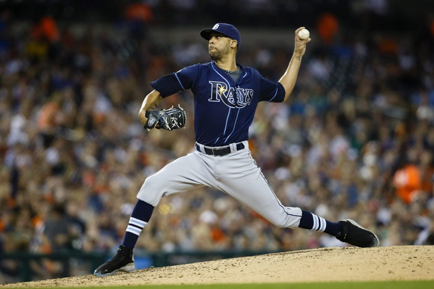 Tampa Bay Rays starting pitcher David Price (14) Mandatory Credit: Rick Osentoski-USA TODAY Sports