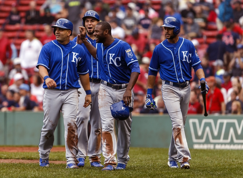 Lorenzo-cain-alex-rios-kendrys-morales-eric-hosmer-mlb-kansas-city-royals-boston-red-sox