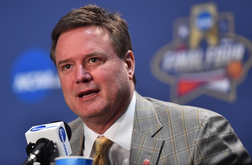 9221299-bill-self-ncaa-basketball-ncaa-basketball-final-four-player-and-coach-of-the-year-press-conference