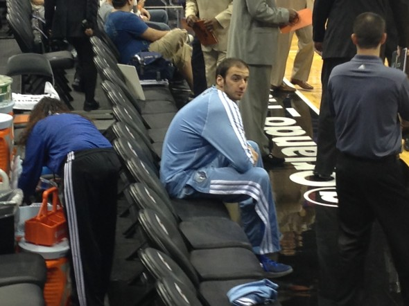 Kosta Koufos on the Bench