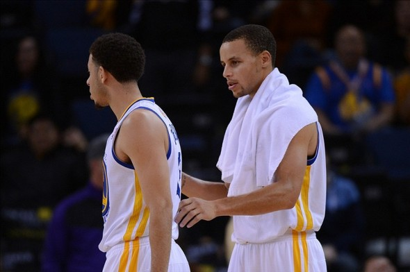 Seth Curry and Stephen Curry