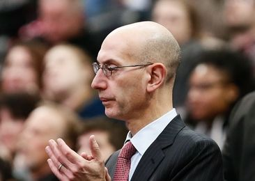 Jan 21, 2016; Denver, CO, USA; NBA commissioner Adam Silver watches from the stands in the second quarter of the game between the Denver Nuggets and the Memphis Grizzlies at the Pepsi Center. Mandatory Credit: Isaiah J. Downing-USA TODAY Sports