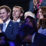Aug 12, 2012; London, United Kingdom; Prince Harry and Kate Middleton during the Closing Ceremony for the London 2012 Olympic Games at Olympic Stadium. Mandatory Credit: Rob Schumacher-USA TODAY Sports