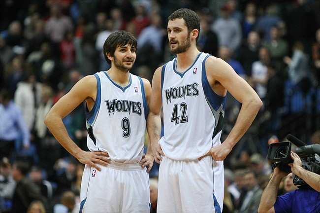 Ricky Rubio and Kevin Love Kevin Love And Ricky Rubio