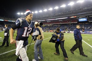The Patriots won 41-28. Mandatory Credit: Robert Deutsch-USA TODAY Sports