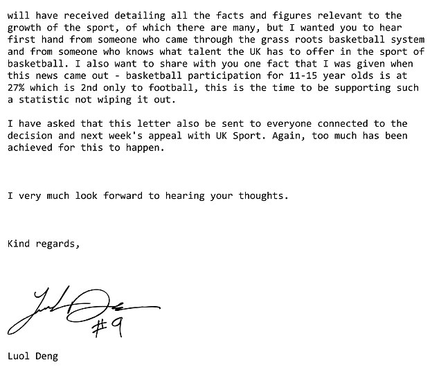 Microsoft Word - Letter from Luol Deng.doc - FanSided