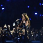 Feb 3, 2013; New Orleans, LA, USA; Beyonce during halftime in Super Bowl XLVII at the Mercedes-Benz Superdome. Mandatory Credit: Jack Gruber-USA TODAY Sports