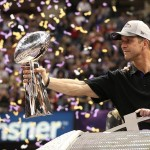 Feb 3, 2013; New Orleans, LA, USA; Baltimore Ravens head coach John Harbaugh celebrates with the Vince Lombardi Trophy after defeating the San Francisco 49ers 34-31 in Super Bowl XLVII at the Mercedes-Benz Superdome. Mandatory Credit: Matthew Emmons-USA TODAY Sports