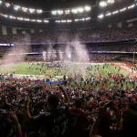 Feb 3, 2013; New Orleans, LA, USA; The Baltimore Ravens celebrate winning Super Bowl XLVII against the San Francisco 49ers at the Mercedes-Benz Superdome. Mandatory Credit: Crystal LoGiudice-USA TODAY Sports