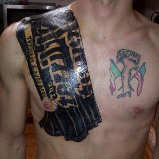 Pittsburgh Steelers Fan Tattoos Terrible Towel Onto