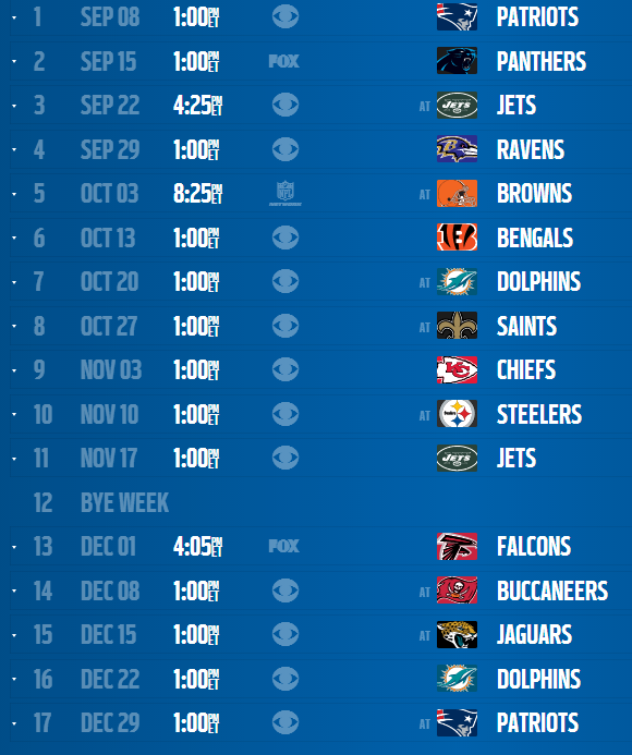 2013 To 2014 Chargers Schedule The Official San Diego