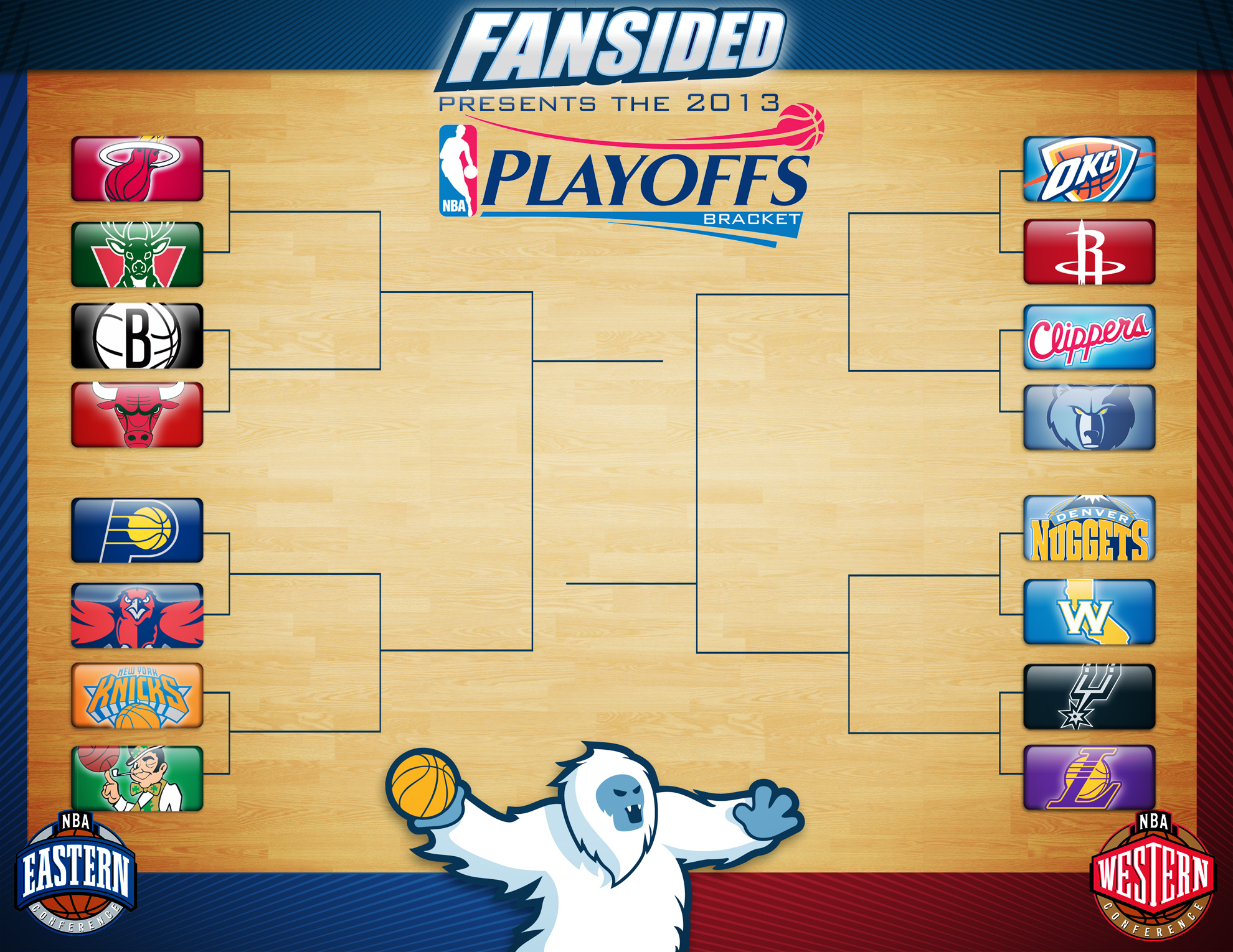 Printable NBA Playoffs Bracket 2013