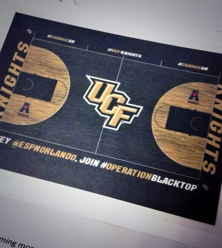 UCF Knights Unveils New Black Basketball Court (Photo ...