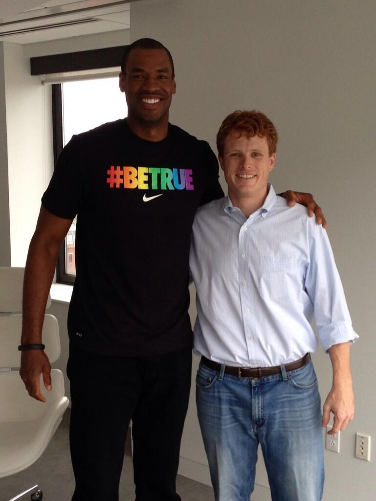 451d00eb The line, which openly gay NBA player Jason Collins wore to Boston's Pride  ...