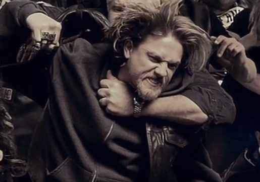 Charlie Hunnam as Jax Teller in a promo for Season 6 of Sons of Anarchy Photo Credit: FX