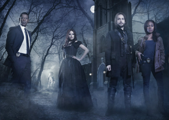 Orlando Jones as Captain Frank Irving, Katia Winter as Katrina Crane, Tom Mison as Ichabod Crane, and Nicole Beharie as Lt. Abbie Mills in the TV Series 'Sleepy Hollow.' Photo Credit: Fox