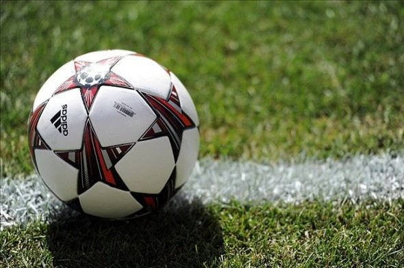 Aug 4, 2013; East Rutherford, NJ, USA; A ball lies on the field before the first half of the Internazionale and Valencia match at Metlife Stadium. Valencia won the match 4-0. Mandatory Credit: Joe Camporeale-USA TODAY Sports