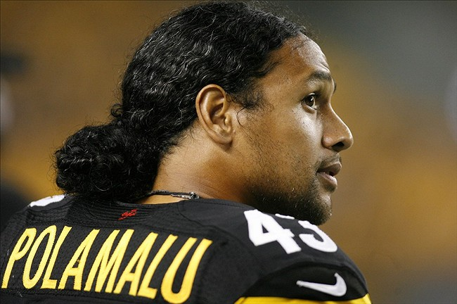 troy polamalu hair cut 2013 pittsburgh steelers safety