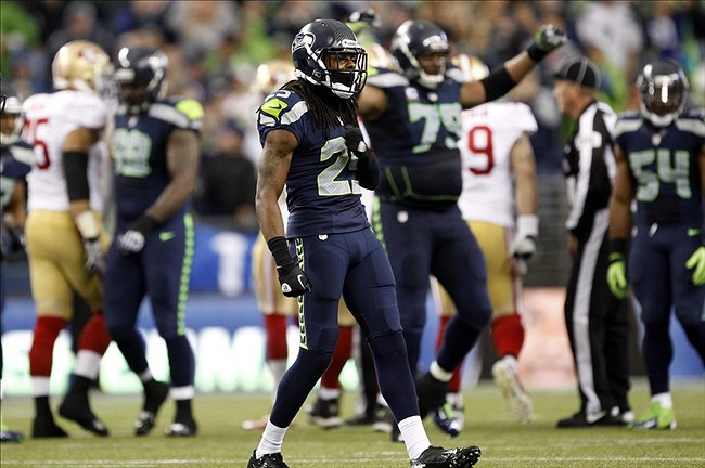 Richard Sherman Celebrated Interception By Dancing With