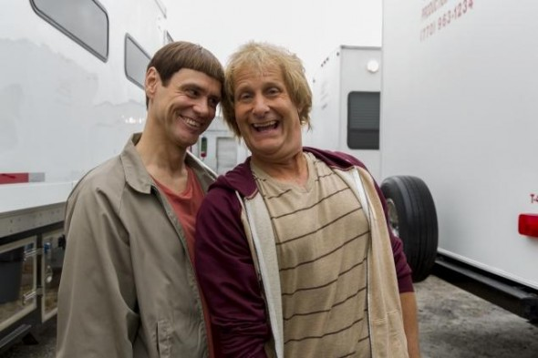 Jim Carrey and Jeff Daniels as Harry and Lloyd in the new sequel 'Dumb and Dumber To' Photo Credit: Hopper Stone/Universal Studios