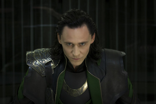 Tom Hiddleston as Loki in Marvel's The Avengers.