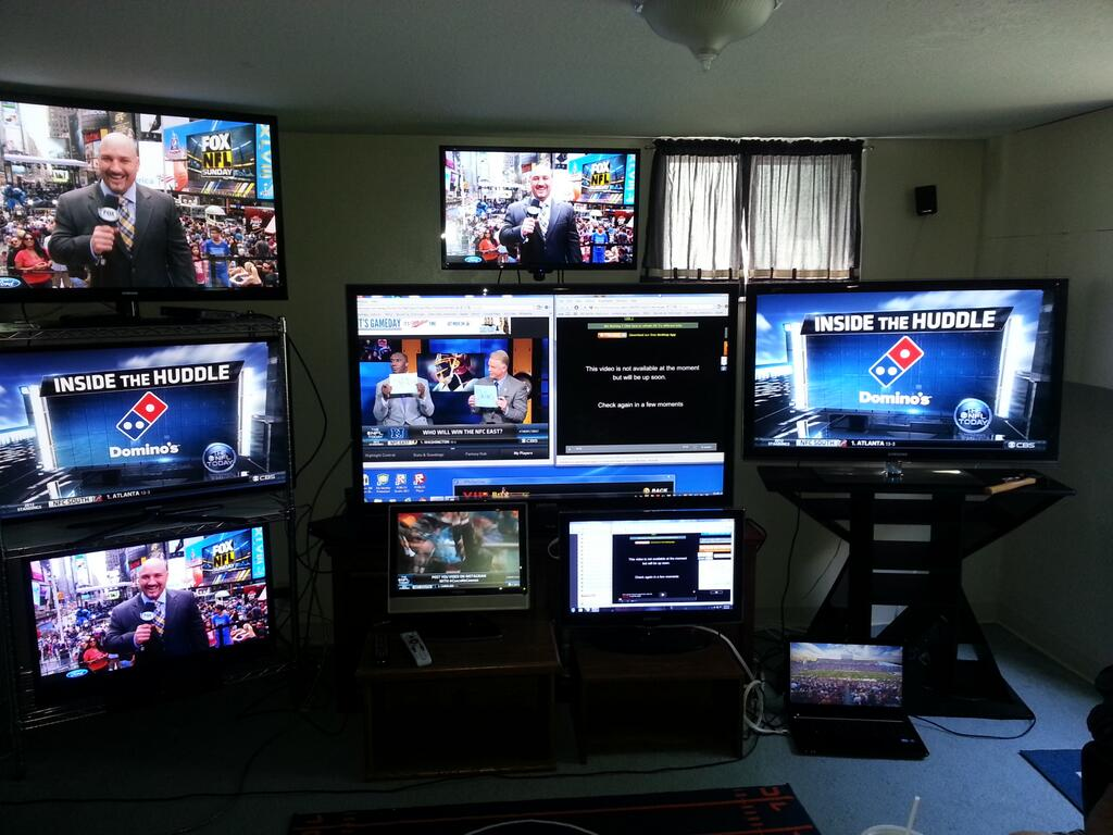 Cleveland Browns Fan Has Setup A Tv Screen For Every Game