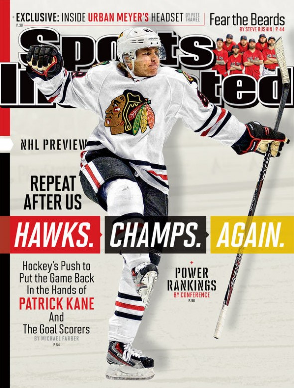 Patrick Kane on the September 25th issue of Sports Illustrated Photo Credit: Sports Illustrated