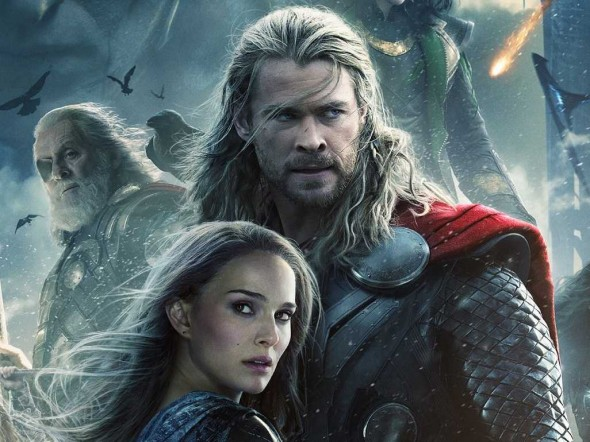 Chris Hemsworth and Natalie Portman as Thor and Jane Foster in the upcoming film 'Thor: The Dark World.' Photo Credit: Marvel
