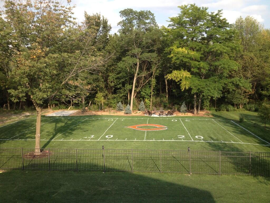 How To Make A Football Field In Backyard : Chicago Bears fan creates his own backyard Soldier Field (Photo)