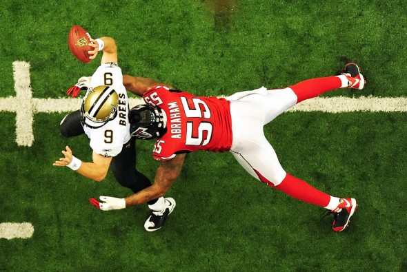 Saints Drew Brees - Falcons John Abraham