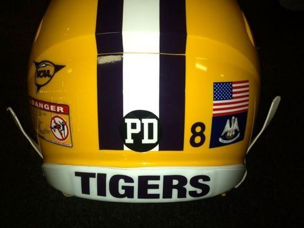 "From NOLA.com, LSU Tigers will wear a helmet with a ""PD"" decal sticker to honor former LSU head coaching great and AD Paul Dietzel."